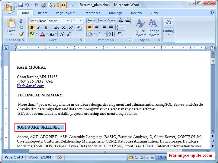 word_home_tab2c Resume Format On Microsoft Word on design templates for, for pediatrician, examples templates,