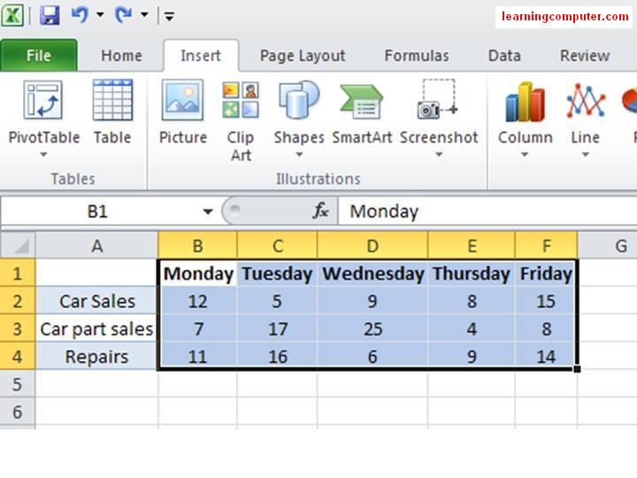 Excel 2010 help - How to insert Sparklines