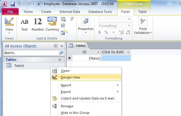 access-2010-databsae-table