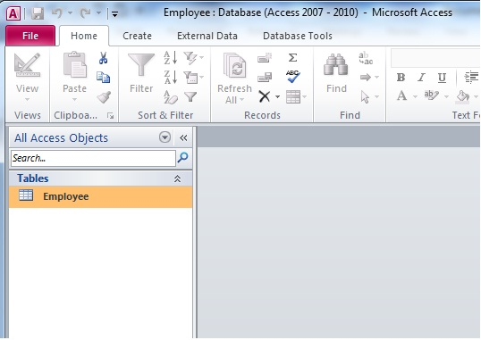 how to create database using ms