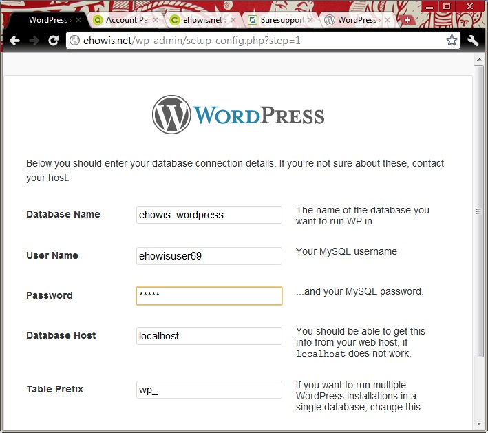 how-to-word-press-database-connection