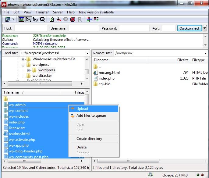 upload-wordpress-files-filezilla